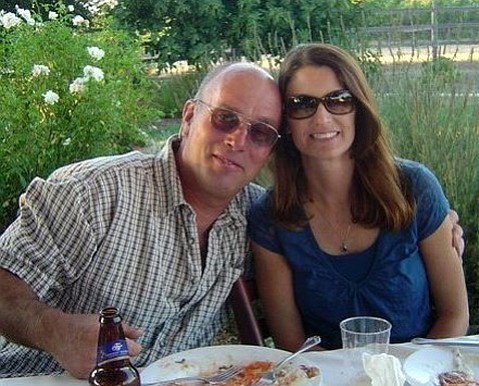 Police suspect that Gregg Hamilton, left, shot his wife Kimberly to death before turning the gun on himself.