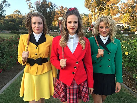 <b>WICKET WAYS:</b> The Heathers are (from left) Katherine Bottoms (Heather NcNamara), Madelyn Adams (Heather Chandler), and Courtney Daniels (Heather Duke).