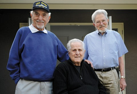 <strong>LEGACY LUNCHEON:</strong> Pictured from left, WWII vets Len Berman, Jack Nadel, and Ralph Baxter will be honored at a luncheon this Sunday.