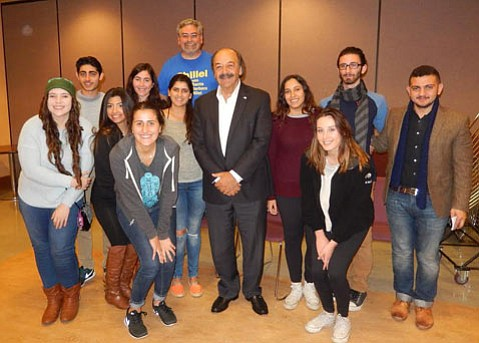 Assemblymember and congressional candidate Katcho Achadijan discussed pressing issues with local college students Tuesday at Santa Barbara Hillel in Isla Vista.