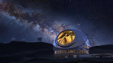 Artist's rendering of the Thirty Meter Telescope