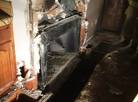 Firefighters woke residents Tuesday night at a Summit Lane home that was consumed in smoke.