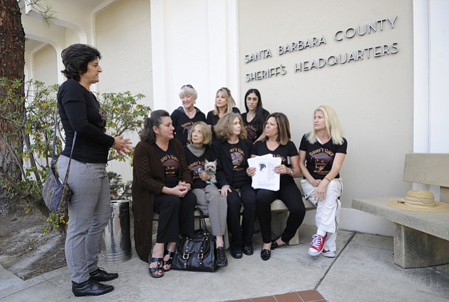 Members of Davey's Voice delivered a petition — bearing over 11,849 signatures and demanding stricter punishment for Duanying Chen — to the County Sheriff's Headquarters on Friday.