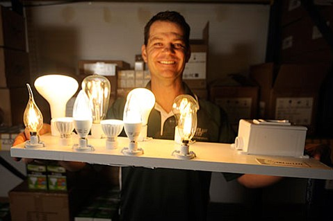 <strong>BRIGHT IDEA:</strong> Based in Goleta and run by president and CEO Jason Weaver (above), DELux LED manufactures and distributes LED lightbulbs and fixtures for residential and commercial use.