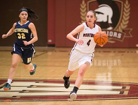 <strong>WESTMONT'S WOMEN STARS:</strong> Westmont College has a dynamic backcourt in
