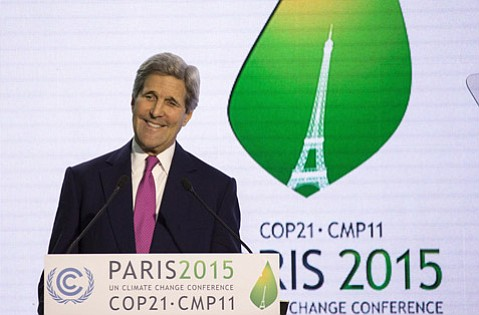 Pledging to double the United States' contribution to the Global Climate Fund by 2020, Secretary of State John Kerry spoke earlier this week at COP21.