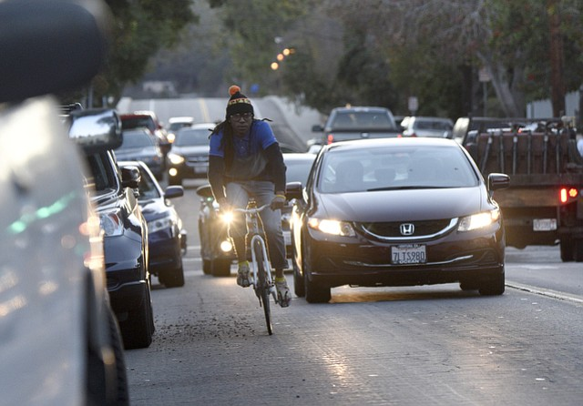 At a Thursday meeting, city planners voted 5:1 to remove 85 parking spaces along Micheltorena Street and replace them with bike lanes.