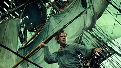 <b>WHALE TALE:</b>  Based on the events that inspired <i>Moby-Dick</i>, <i>In the Heart of the Sea</i> stars Chris Hemsworth as sailor Owen Chase.