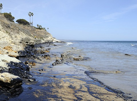 <strong>YECH: </strong> Refugio Beach and surrounding areas were a sticky mess right after the spill and in the days following.