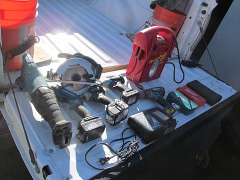 Authorities are investigating stolen construction tools found this week in a Santa Maria storage locker.