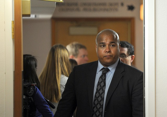 Christopher Johnson leaves Santa Barbara Superior Court after his 2013 arraignment.