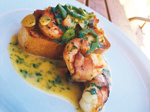 White Shrimp, Pancetta, Chile, Garlic @ Industrial Eats