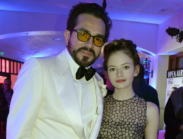 Roger Durling and Mackenzie Foy at the 2016 SBIFF opening night party