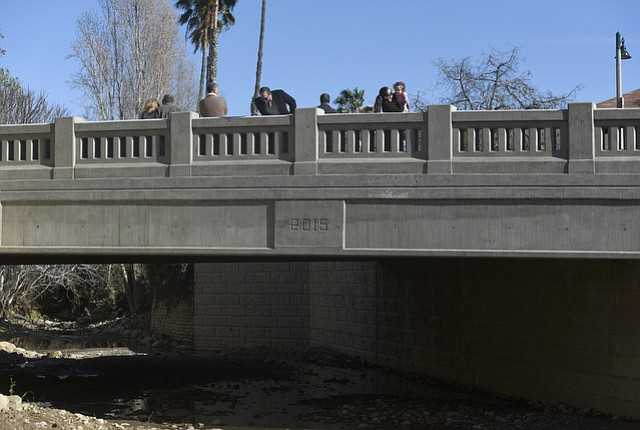 The redesigned Cota Street Bridge between Bath and De La Vina Streets
