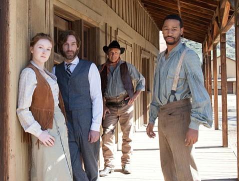 Cast of <em>The Man Who Shot Liberty Valance</em>.