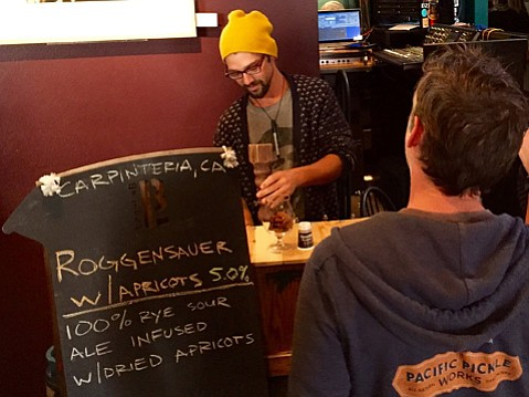 PUCKER UP:  Carpinteria's brewLAB was one of several regional breweries pouring their wild and sour ales at the Wild Brew Fest.