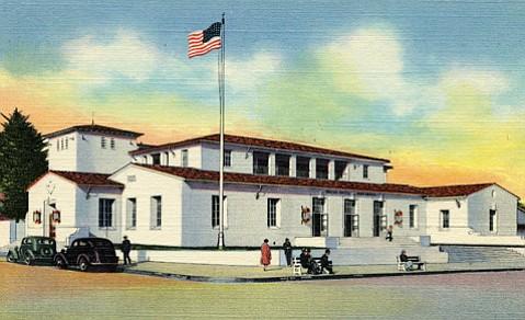 Santa Barbara Post Office, circa late 1930s, early 1940s