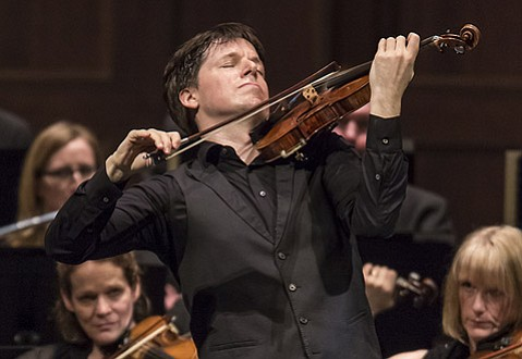 <b>FOLLOW THE LEADER:</b>  Violinist Joshua Bell (pictured) conducts the Academy of St. Martin in the Fields with body language from a position standing front and center.