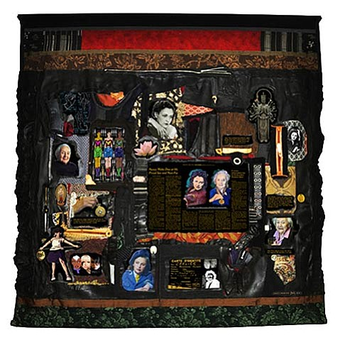 <b>WONDER WOMEN:</b>  Artist Linda Stein creates tapestries of strong women, such as the one pictured depicting the life of Nancy Wake, a New Zealander who worked with the French Resistance during WWII.