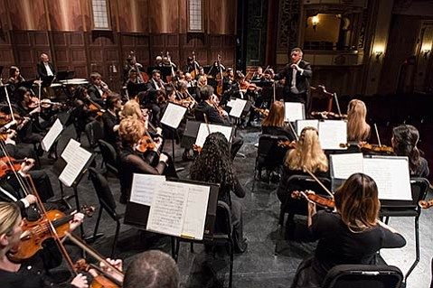 <b>MASTER MAESTRO:</b>  The orchestra came together as one under Nir Kabaretti's baton for a celebration of his first decade as music director of the Santa Barbara Symphony.