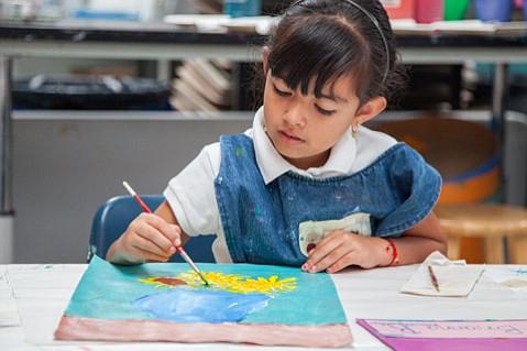 Art class at McKinley Elementary School