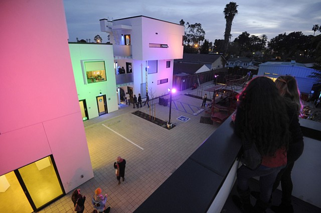 <strong>COLLABORATORY:</strong>  The Santa Barbara Center for Art, Science and Technology (SBCAST) on Garden Street is a new facility dedicated to encouraging co-creation among artists, scientists, and technologists.
