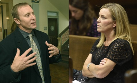 "<strong>HIGH AND DRY:</strong> City water boss Joshua Haggmark (left) was blasted by Channelkeeper's Kira Redmond (right) for being ""disingenuous"" in desal dealings."