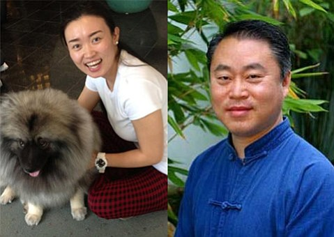 """Huijie """"Jennie"""" Yu and Dr. Weidong """"Henry"""" Han"""