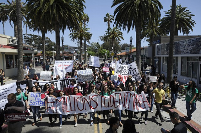 The second Million Student March protested derogatory chalk messages and a cache of UC-wide issues.