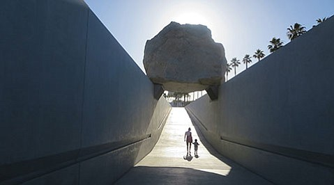 <b>LEVITATE ME:</b>  <i>Levitated Mass: The Story of Michael Heizer's Monolithic Sculpture</i> kicks off UCSB Arts & Lecture's Art on Film series this Thursday.