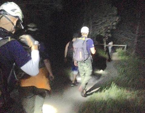 Two pairs of hikers, stranded on separate backcountry trails Sunday night, were rescued by 14 members of the Santa Barbara County Search and Rescue (SBCSAR) team.