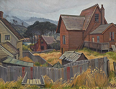 "<strong>STRONG CHARM: </strong> The new monograph Ray Strong, American Artist pays tribute to Santa Barbara's most influential artist and his paintings, including works like ""Shanties and Shacks"" (above)."