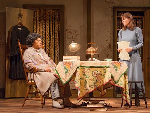 Lynda Gravatt and Kelly McAndrew in <em>Wellesley Girl</em> by Brendan Pelsue.