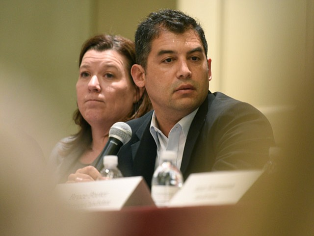 <strong>HARD CASH:</strong> Das Williams (right), 1st District candidate, is the fundraising frontrunner; Jennifer Christensen (left) holds three times less in her campaign coffer.