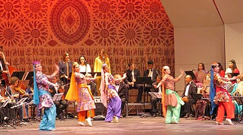 <strong>WHIRLING DANCERS:</strong>  The Middle East Ensemble features a dance ensemble (pictured above) lead by Cris! Basimah.