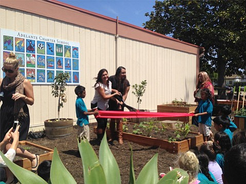 Friday marked the opening of Adelante Charter School's new garden space, the product of a partnership with Explore Ecology and Leadership Santa Barbara County.