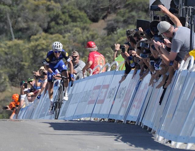 2016 Amgen Tour Santa Barbara finish line on Gibraltar Road
