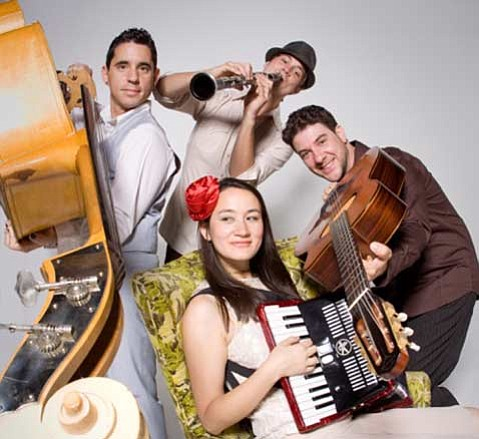 <strong>ACCORDION TO HER:</strong>  Jessica Fichot and her lively band will fill the I Madonnari air with vibrant music.