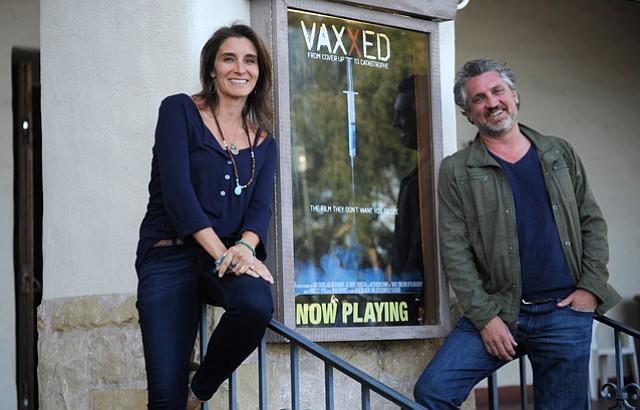 Ex-pharma rep Brandy Vaughan (left) and <em>Vaxxed</em> producer Del Bigtree