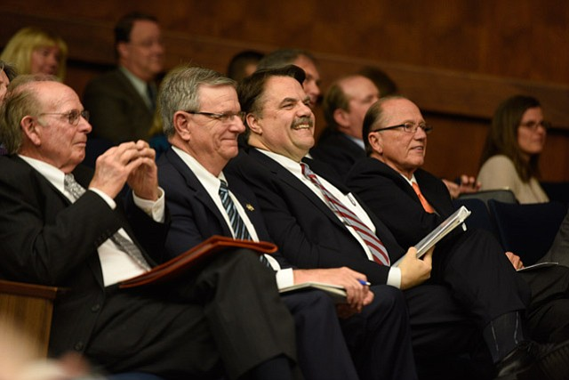 <strong>HAPPY DAYS:</strong> Sheriff Bill Brown celebrated this week's vote to approve the new North County Jail.