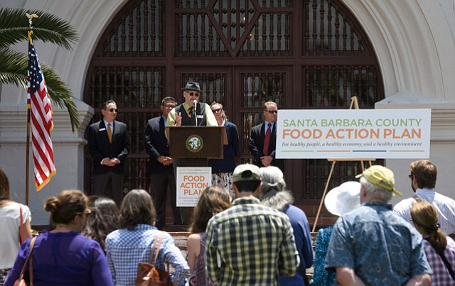 <strong>UNVEILED:</strong> Santa Barbara County Food Action Plan leaders announce the initiative.
