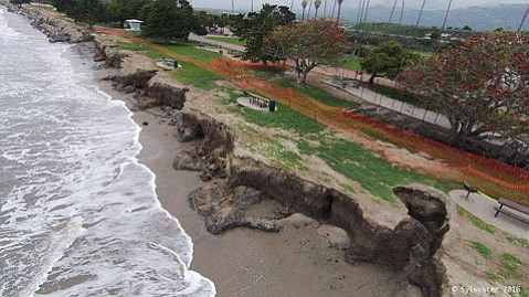 """We knew sand berms just wouldn't cut it,"" said Ed de la Torre, of Friends of Goleta Beach Park."
