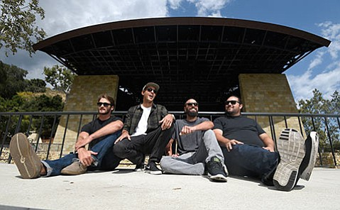 <strong>IT'S ALL GOOD:</strong> Iration headlines KJEE's rock rodeo, which also includes bands Wolfmother, Fitz and the Tantrums, and Fmlybnd. Pictured from left are the hometown-by-way-of-Hawai'i band's Cayson Peterson, Adam Taylor, Joseph Dickens, and Micah Pueschel.