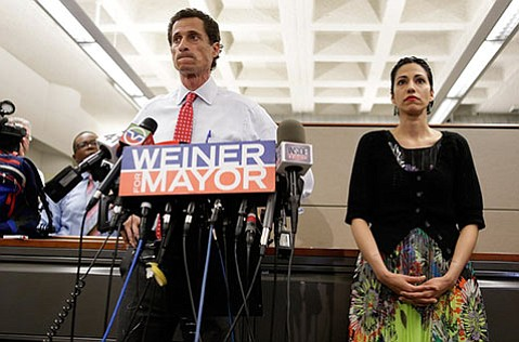 <strong>RACY:</strong> Anthony Weiner's mayoral campaign is the subject of <em>Weiner</em>, which kicks off SBIFF's Riviera showcase series.