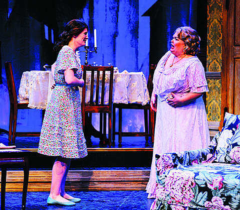 <strong>BROKEN FIGURES:</strong>  Sierra Wells (left) and Kitty Balay star in PCPA's production of Tennessee Williams's play of Southern elegance lost to familial decay.
