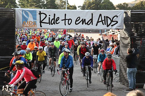 Motorists may see thousands of AIDS/LifeCycle-ists coming down county roads through Friday.