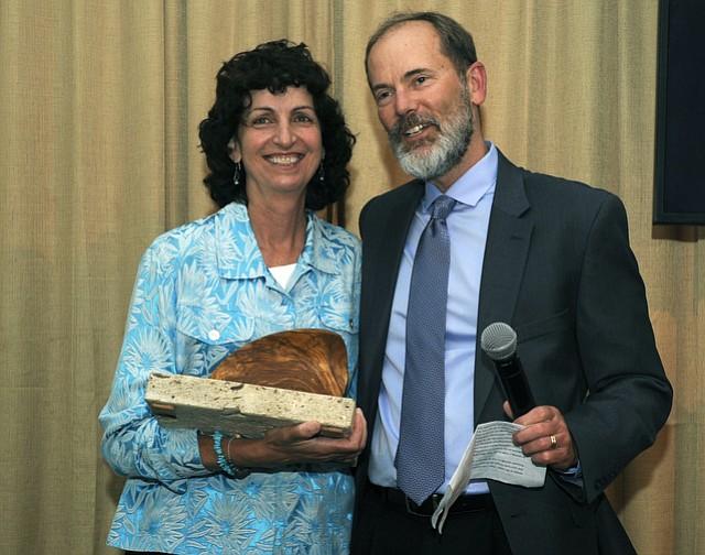 EDC's  Linda Krop with 2016 Environmental Hero Dr. Charles Lester
