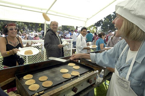 VANISHING BREED: The Fiesta pancake breakfast, sponsored by Kiwanis of Santa Barbara for the past 65