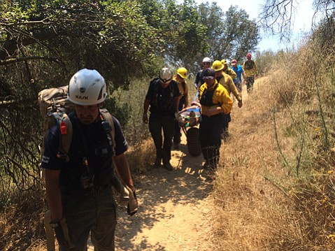 Around noon on Saturday, a 14-year-old boy was rescued near Skofield Park after he became ill from the heat.