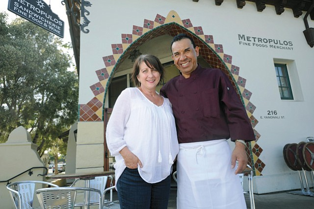 Metropulos co-owner Ann Addis, with Chef Roberto Soria. (May 27, 2016)